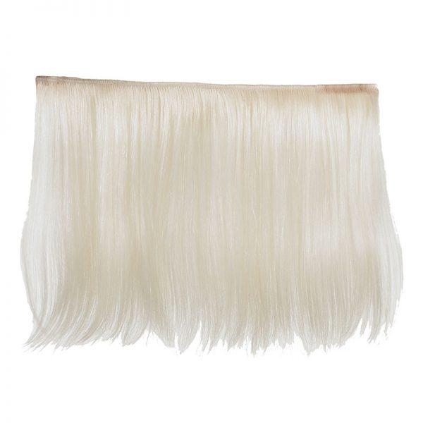 Sophia White Goat Hair 30x50cm Hair Weft