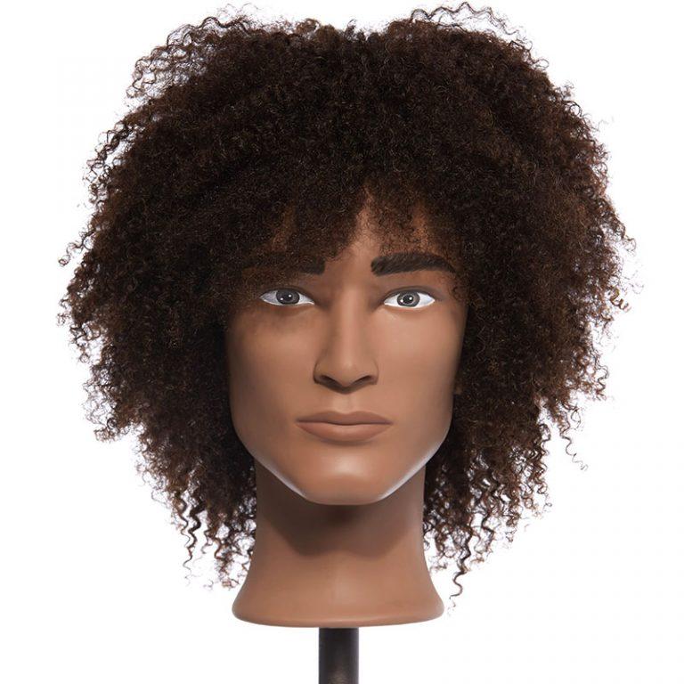 Cameron – 100% Human Textured Hair Mannequin