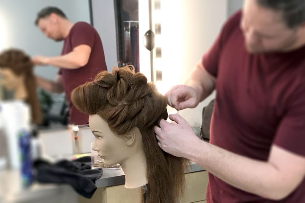 Long hair, Pivot point mannequin styling