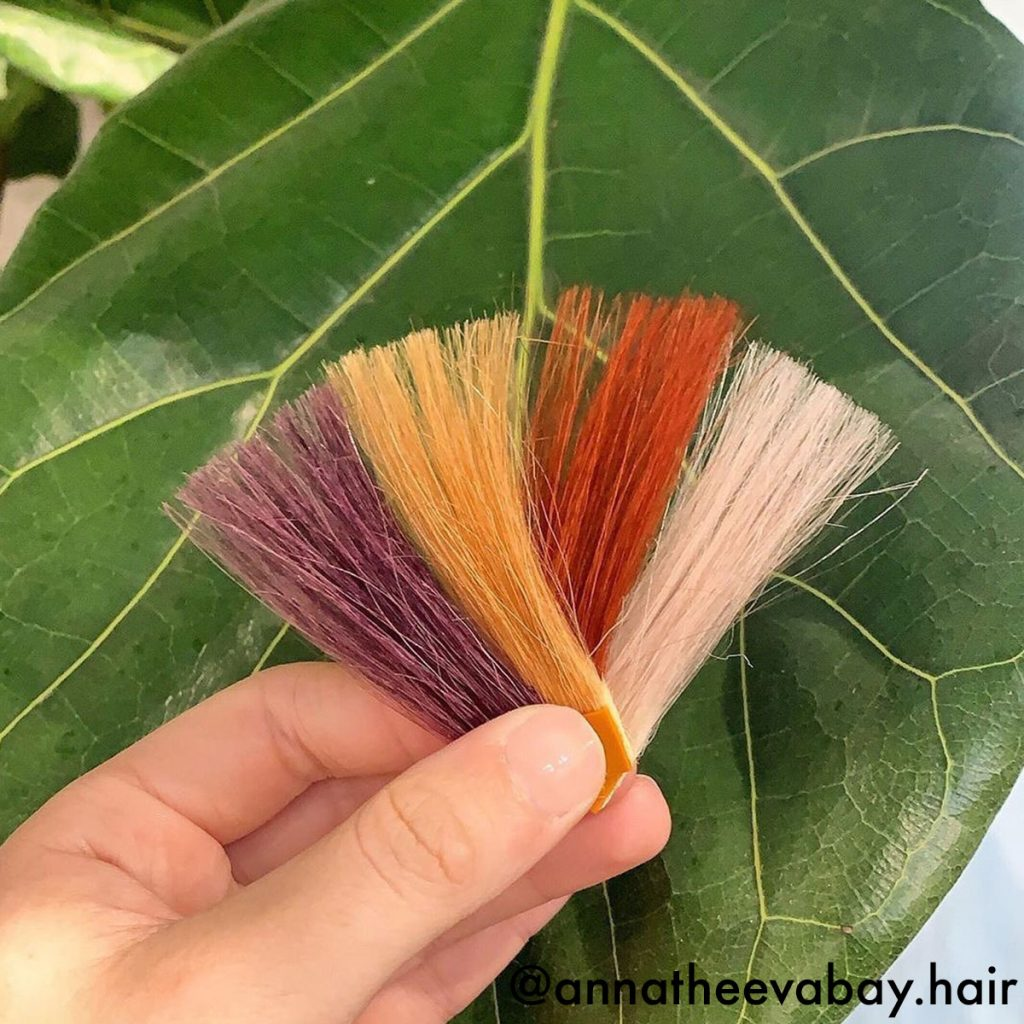 Hair Swatches Lifestyle Action Shot