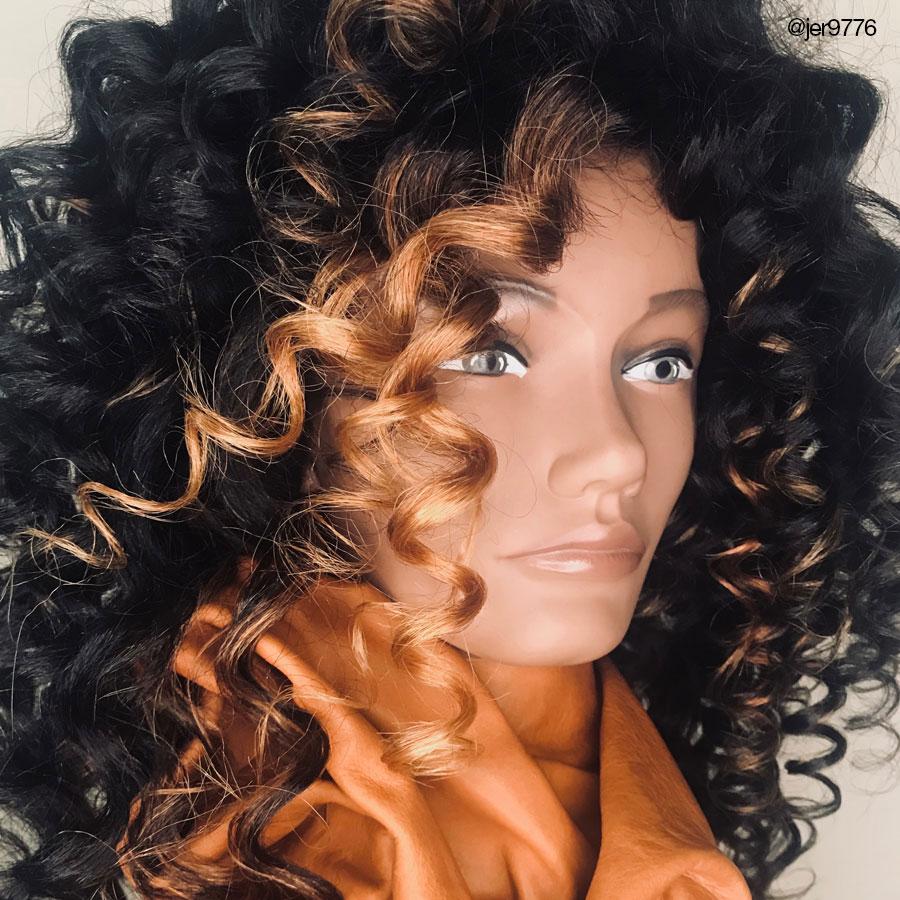 Pivot Point Michelle mannequin, textured hair