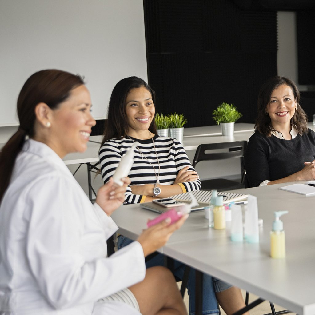 Dermatologist use samples promoting new skin product