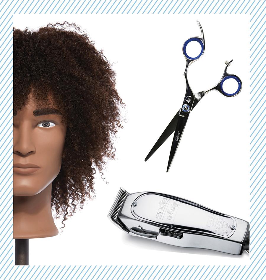 Pivot Point mannequin. Scissor. Hair Trimmer