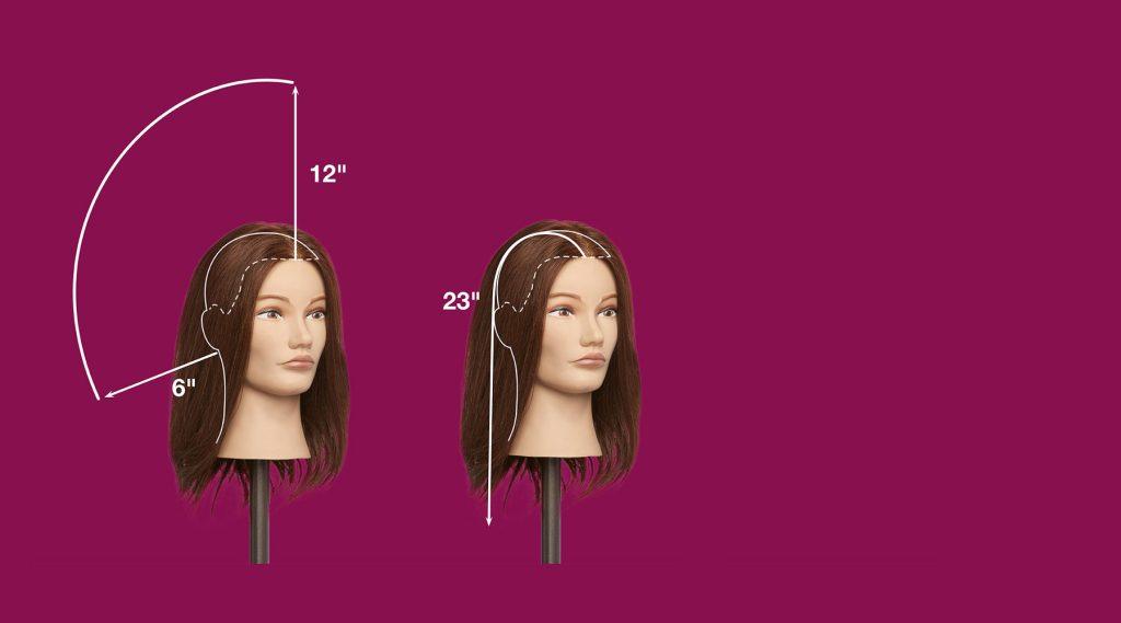 Pivot Point Mannequin Hair Measurements