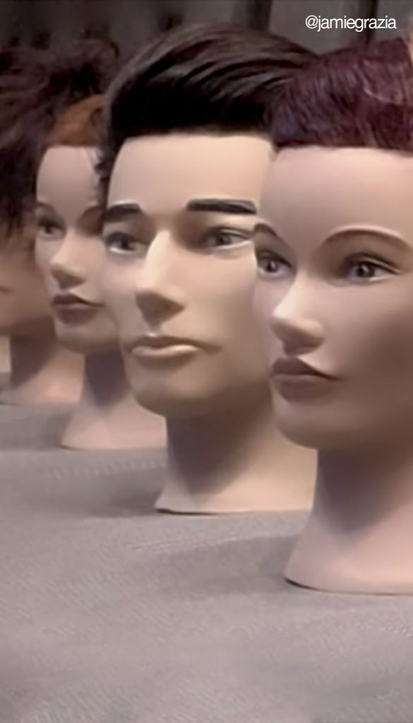 A selection of Pivot Point male mannequins @jamiedgrazia