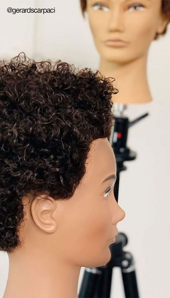 Pivot Point mannequins have customizable hair.