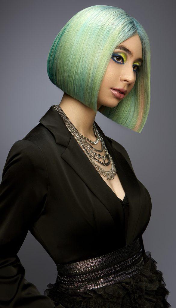 Green Bob Hairstyle