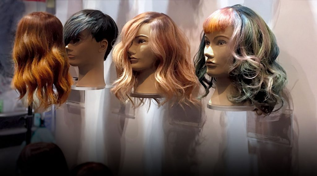 finished mannequins on wall