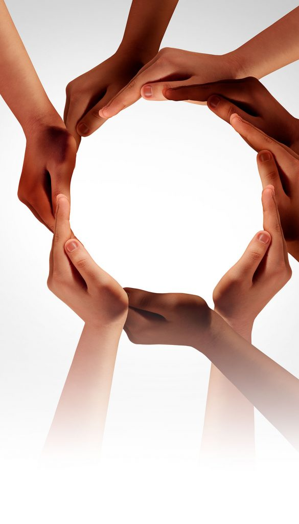 hands together forming a circle