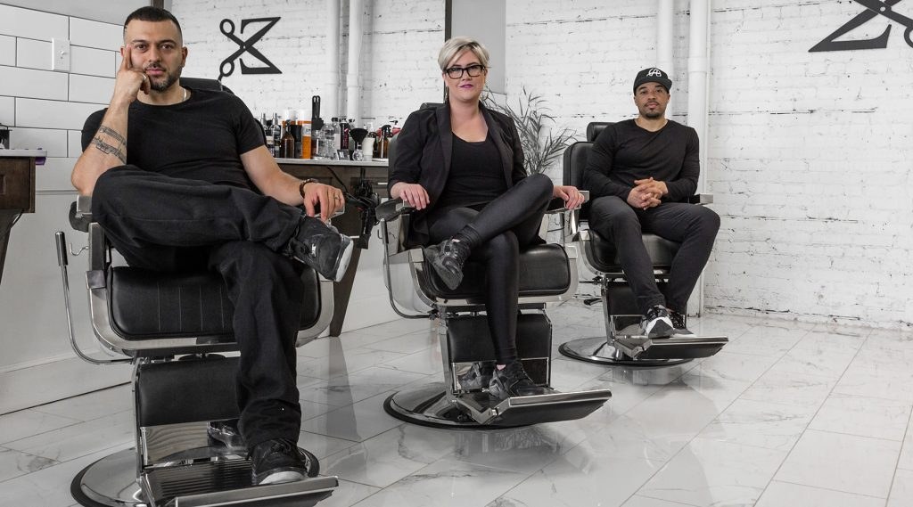 Barbers in chairs