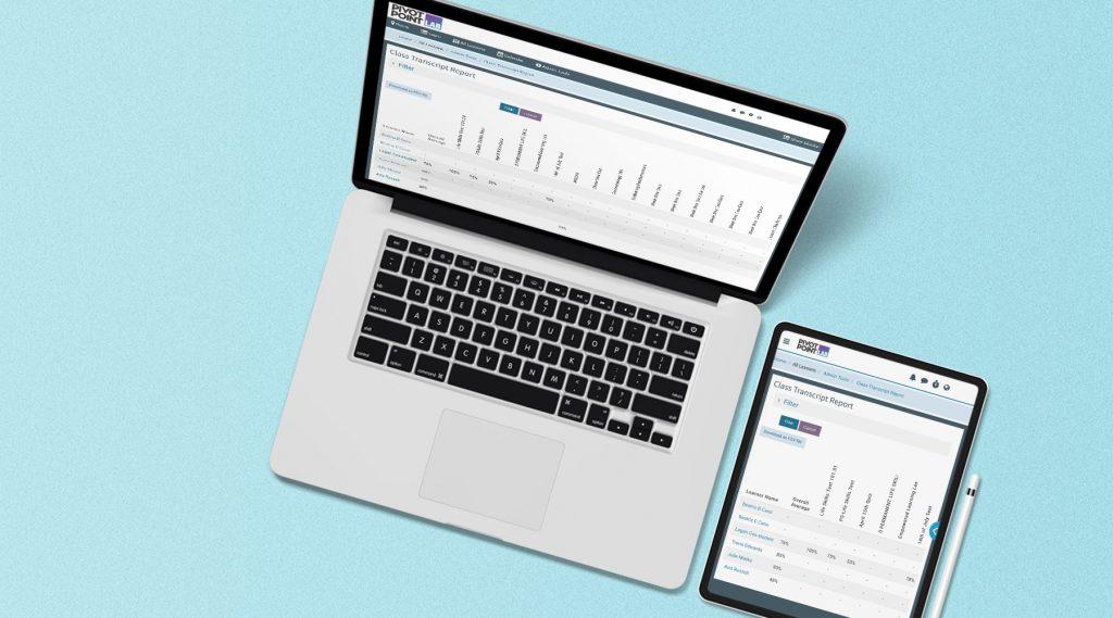 Laptop showing Pivot Point LAB